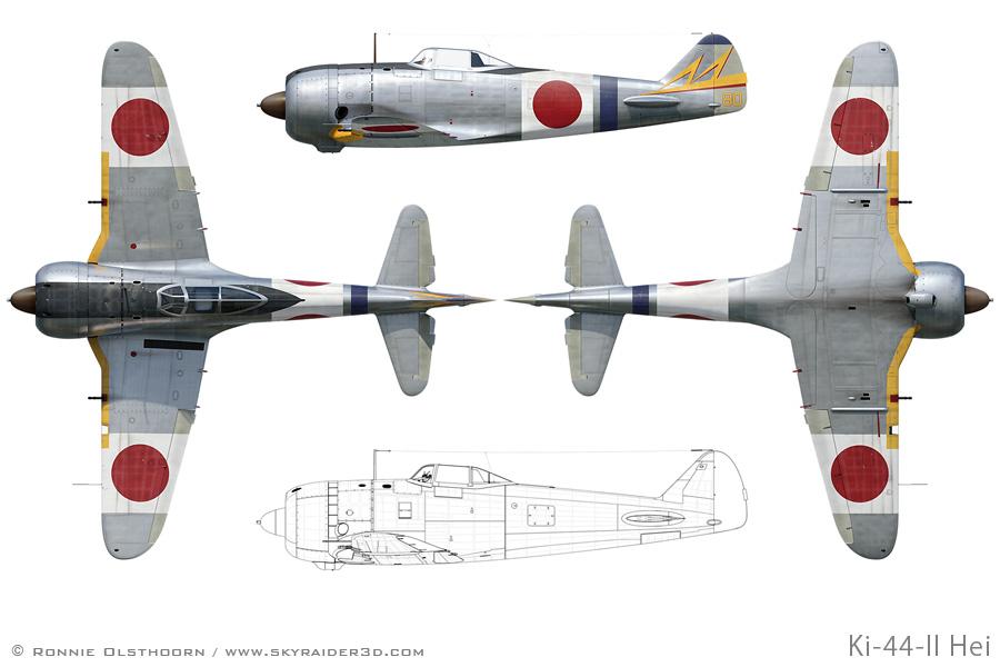 aircraft profile art osprey aircraft of the aces ki 44 tojo